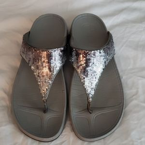 Fitflop Sequin silver Sandals